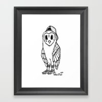 SkateOwl Framed Art Print