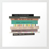 Books Collage Art Print