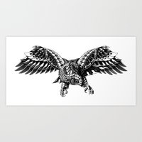 Ornate Falcon Art Print