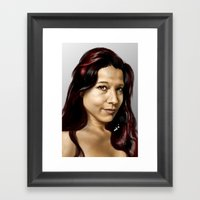 Holly Framed Art Print