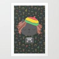 Art Print featuring Cute Reggae by Kostolom3000