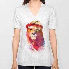 Gym Lion Unisex V-Neck