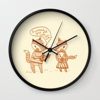 Grow Old With You Foxes Wall Clock