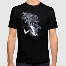 A Forest's Darkness MEDIUM Black Mens Fitted Tee
