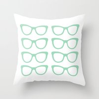 Glasses #5 Throw Pillow