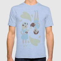 English Summer Cup Of Tea Mens Fitted Tee Athletic Blue SMALL
