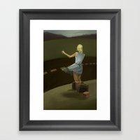 The Vanishing Hitch Hike… Framed Art Print