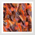 Autumn Feather Sky  Art Print
