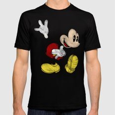 DISNEY MICKEY MOUSE: DARK MICKEY Mens Fitted Tee Black SMALL
