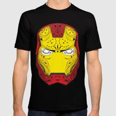 Sugary Iron Man Black SMALL Mens Fitted Tee