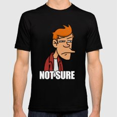 Fry is not sure Black SMALL Mens Fitted Tee