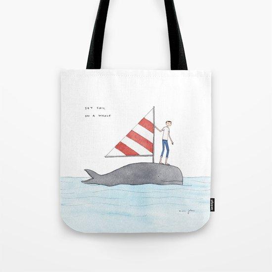 set sail on a whale Tote Bag