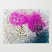 Magenta rounded drips Canvas Print