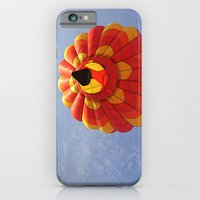 iPhone & iPod Case featuring Up, Up and Away in a Hot Air Balloon by Jean Ladzinski