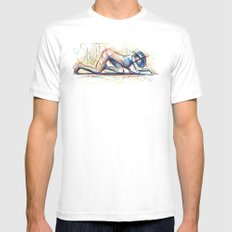 xxx Mens Fitted Tee White SMALL