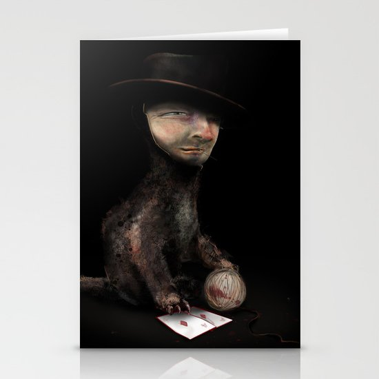 Charles the cat Stationery Card