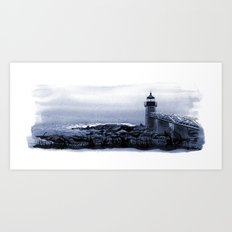 Lighthouse, Marshall Point, Maine Art Print