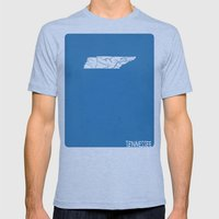 Tennessee Minimalist Vin… Mens Fitted Tee Tri-Blue SMALL