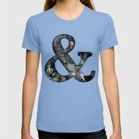 Ampersand Series - Baske… Womens Fitted Tee Tri-Blue SMALL