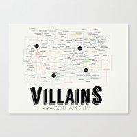 Villains Of Gotham Canvas Print