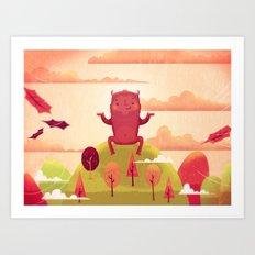 Welcome Autumn! Art Print