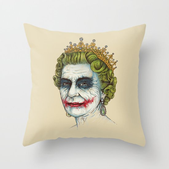 God Save the Villain! Throw Pillow