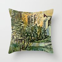The Gardeners House Throw Pillow