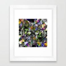 Textured Chaos - Abstract, textured artwork Framed Art Print