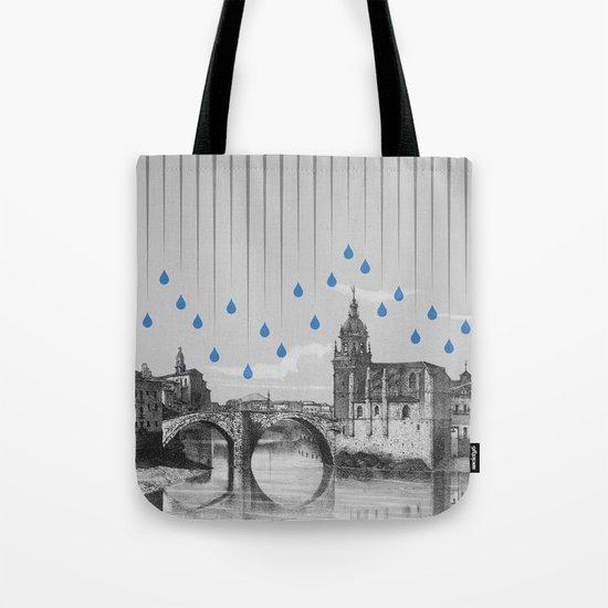 La lluvia en Bilbao es una pura maravilla Tote Bag