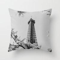 Eiffel Tower II Throw Pillow