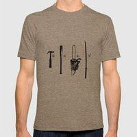 Pulp Makers Mens Fitted Tee Tri-Coffee SMALL