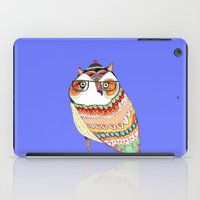 Owl, owl art, owl illustration, owl print,  iPad Case