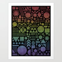 Modern Elements with Spectrum. Art Print