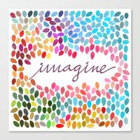 Imagine [Collaboration W… Canvas Print