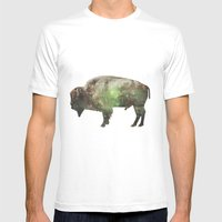Surreal Buffalo Mens Fitted Tee White SMALL