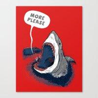 Greedy Shark Canvas Print