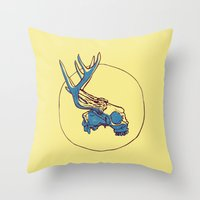 Deer Skull Throw Pillow