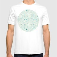 Blue Scribbles 04 Mens Fitted Tee White SMALL