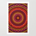 Mandala Aztec Pattern 2 Art Print