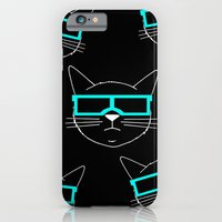 iPhone & iPod Case featuring Cool Cat 1 by Caz Haggar