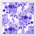 floral Delft blue Canvas Print