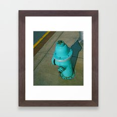 Turquoise Hydrant Framed Art Print