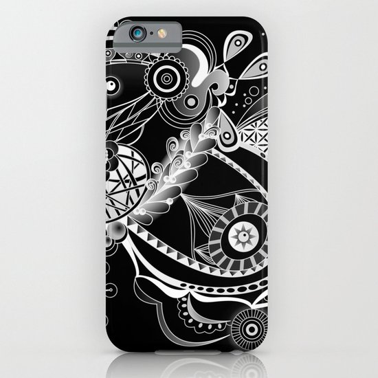 Spring tangle, black iPhone & iPod Case