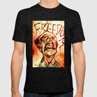 Freedom Mens Fitted Tee Tri-Black SMALL