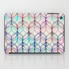 Mermaid's Braids - a colored pencil pattern iPad Case