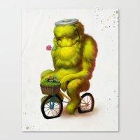 Bike Monster 1 Canvas Print