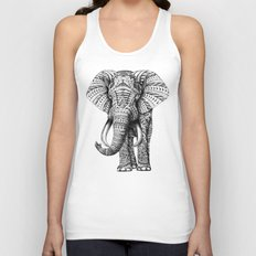 Ornate Elephant Unisex Tank Top