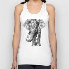 Ornate Elephant Unisex Tank Top