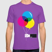 CMYK Balloon's  Mens Fitted Tee Ultraviolet SMALL