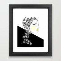 yellow kiss Framed Art Print